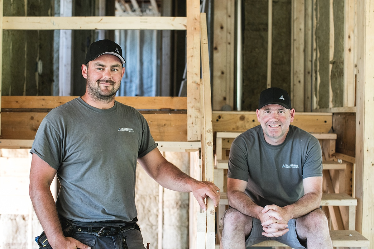 Daneil Burke and Corey MacLennan, principals of Blueprint Construction Ltd.